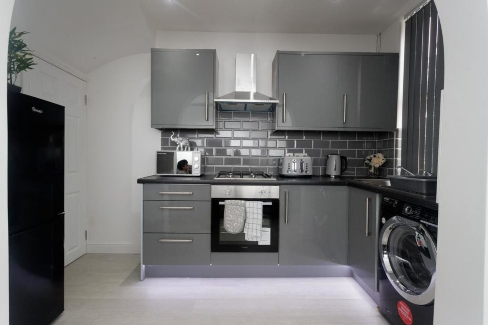 serviced apartments in leeds kitchen