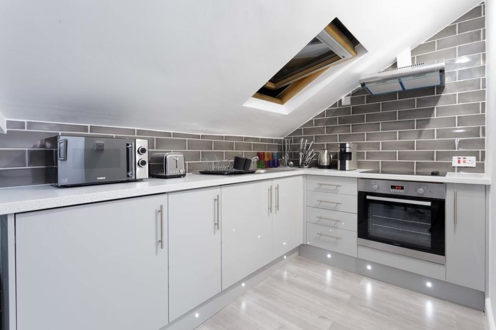 leeds self catering accommodation kitchen