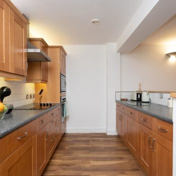 serviced accommodation with fully furnished kitchen